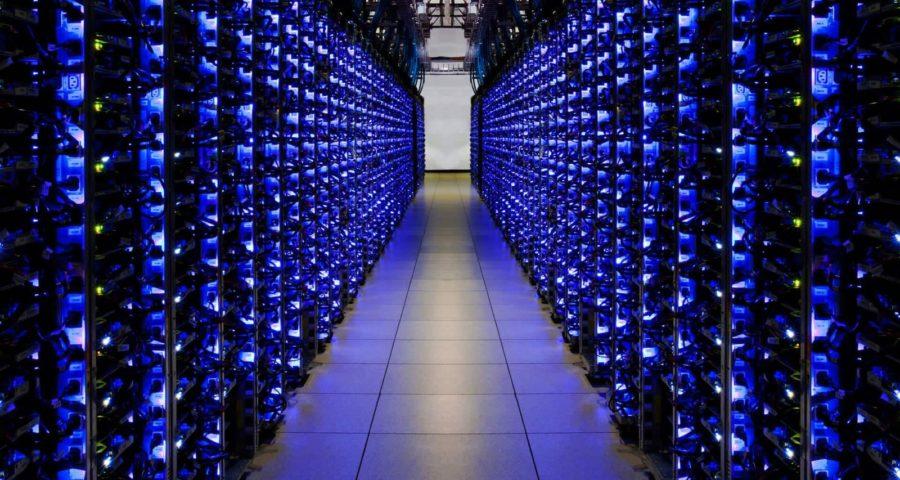 Une salle de serveurs chez Google